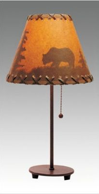 Rustic+BearTable+Lamp