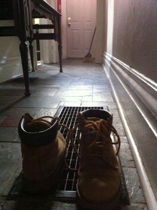 Boots and door
