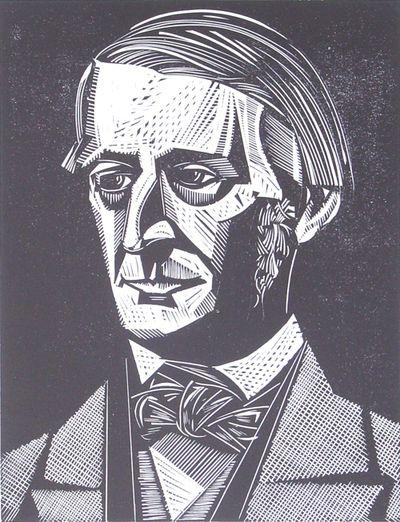 Ralph Waldo Emerson woodcut