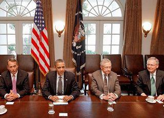 Obama and senators