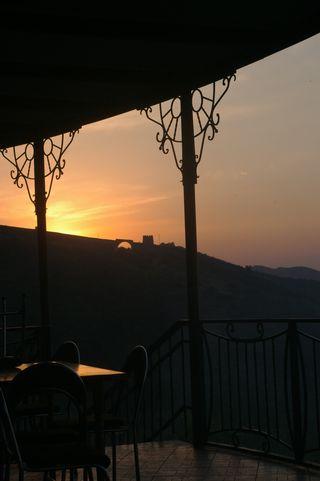 Georgia cafe silhouette 2
