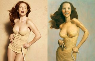 Julianne Moore as a John Currin by Peter Lindbergh
