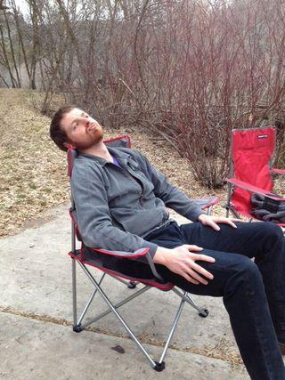 Tim lounging