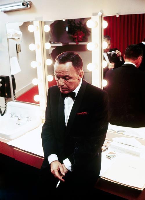 Frank backstage
