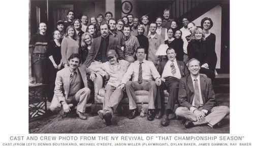 NY-Revival,-That-Champ-ionship-Season---from-left---Dennis-Boutsakaris,-Michael-O'Keefe,-Jason-Miller--(Playwright),-Dylan-Baker,-James-Gammon,-Ray-Baker