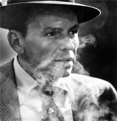 Frank smoking