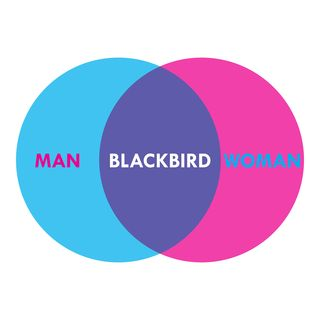 """""""A man and a woman / Are one. / A man and a woman and a blackbird / Are one."""" — Wallace Stevens"""