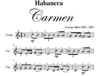 Partitura dell'aria Habanera - Bizet