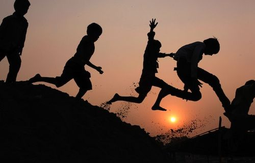 Kids-leaping-and-playing
