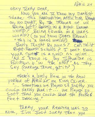 Jamie letter 24 apr 77 p. 1