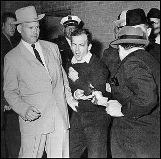 Oswald being shot