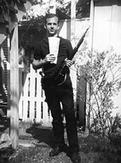 Oswald with rifle