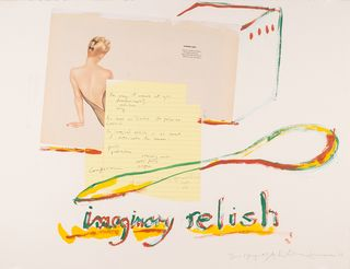 Imaginary Relish by George Schneeman & Anne Waldman, 2005 (mixed media on paper)