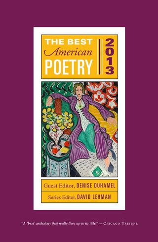 Best American Poetry 2013 Cover