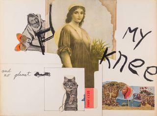 My Knee by George Schneeman & Michael Brownstein, 1969 or 1970 (mixed media on illustration board)