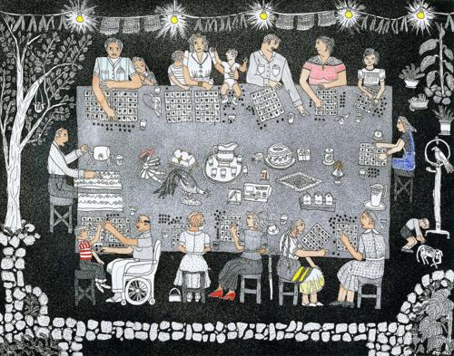 Lotería-Tabla Llena by Carmen Lomas Garza