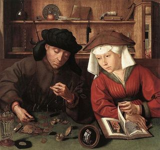 24. Metsys, Quentin - The Moneylender And His Wife
