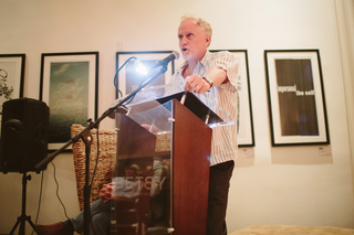 Campbell McGrath (poet) reads Gerald Stern at Paella Poetry - April 28, 2015 at The Betsy