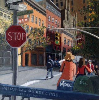 Cornelia & W 4 St painting