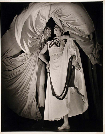 William Eugene Smith, Portrait of Martha Graham and Eric Hawkins, 1945