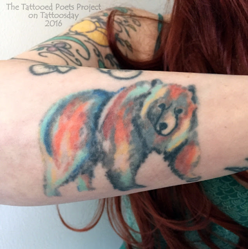 Disco Watercolor Bear