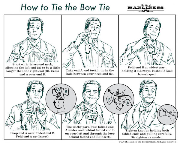 A public service announcement how to tie a bow tie by stacey click over to the art of manliness website to watch the how to tie a bow tie video ccuart Images