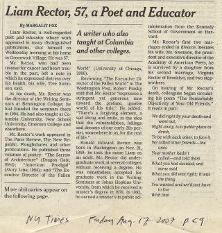Liam Rector NYT obit 2007 b