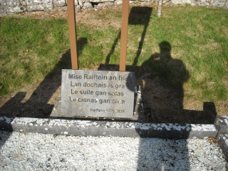 At Raftery's grave in Galway Oct 2016   z