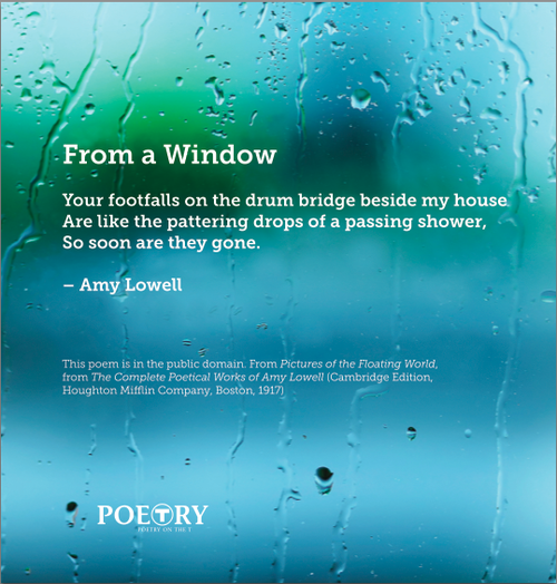 Poems About Rainy Days: Poetry In Public Spaces: Poetry On The T [by January Gill