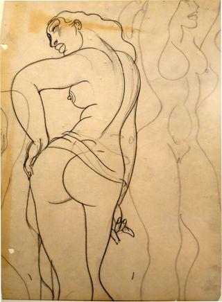 Juan drawing carib nude