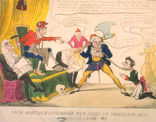 Trial of napoleon bonaparte george cruikshank 1813