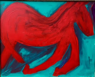 Nancy horse painting