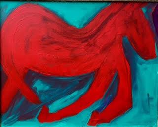 Nancy horse painting