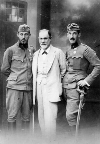 Freud with soldiers