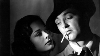 Greer & Mitchum in Out of the Past