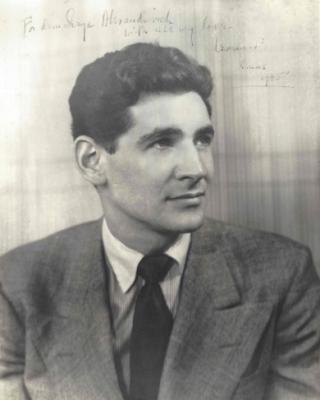 Leonard_Bernstein_Portrait _1945 _dedication_to_Koussevitzky