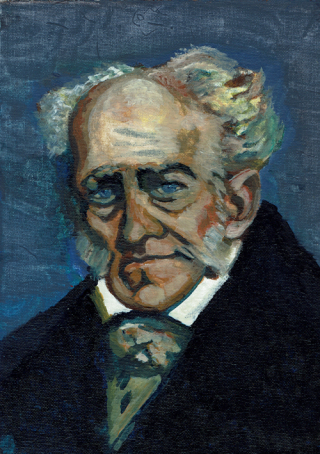 Schopenhauer portrait by Gail Campbell 2016