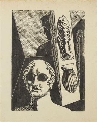 De Chirico portrait of Apollinaire 1917