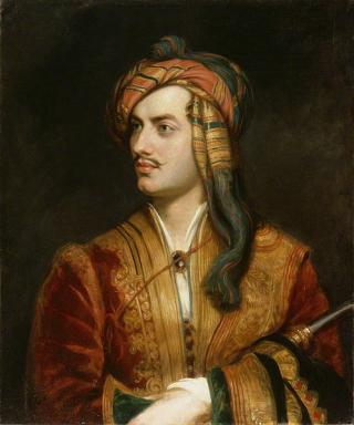Byron in Albanian attire