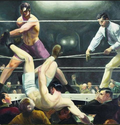 George Bellows. Dempsey and Firpo  1924. Oil on canvas. Whitney Museum of American Art.
