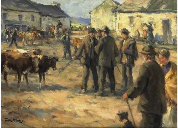 Frank McElvey (1895--1974)  Fair Day. Oil on canvas.