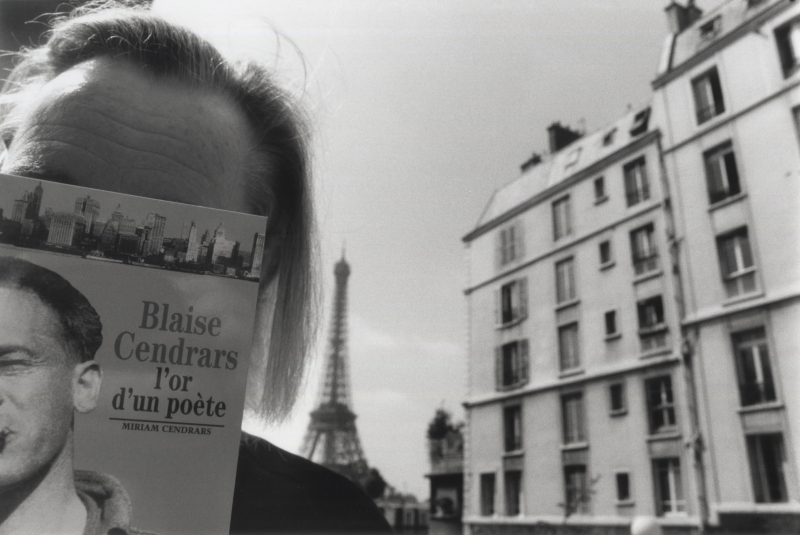 Doug with Blaise Cendrars book in Paris  1996