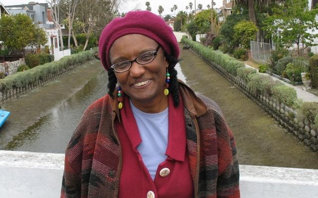 Photo of Harryette Mullen by Hank Lazer  Venice  CA