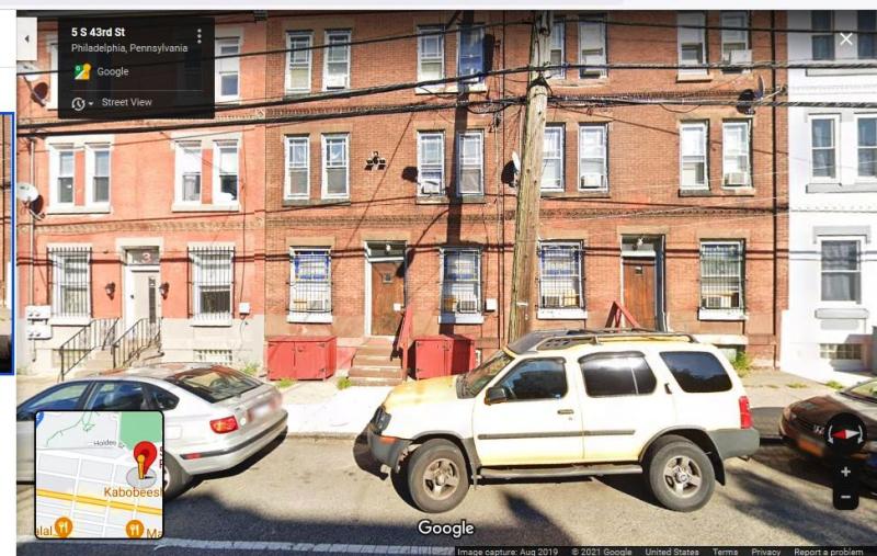 5 S. 43rd St  Phil.  Google street view