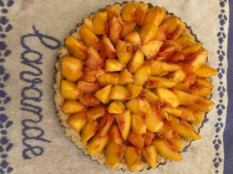 Wells Peach tart uncooked