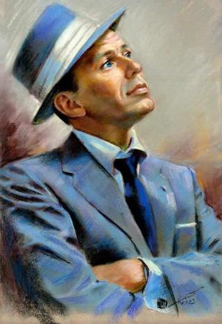 Sinatra (painted photo)