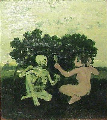 Albert York Woman and Skeleton 1967